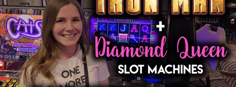 NICE WIN! Diamond Queen + IronMan Slot Machines! BONUSES
