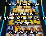 Lord of the Jungle!  Tarzan Grand — Big Win Bonus on My 1st Attempt!  With Vic T Slots