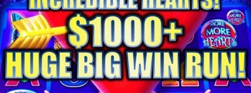 ★INCREDIBLE $1K+ HUGE BIG WIN RUN! TAX FREE!★ ❤️ MORE MORE HEARTS Slot Machine Bonus