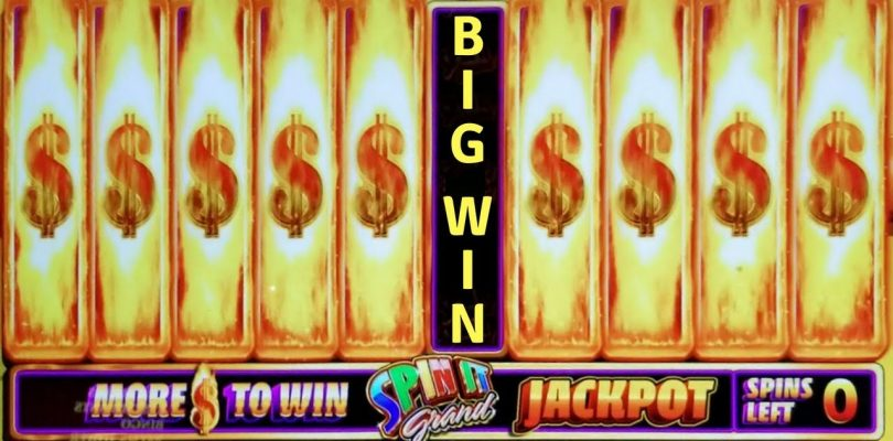 BIG WIN on SPIN IT GRAND + WOLF RIDGE + MONOPOLY HOT SHOT SLOT POKIE BONUSES RAMPART CASINO PALMS
