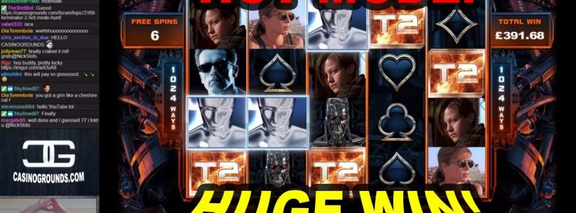 Terminator 2 Slot: HOT MODE!! HUGE WIN! — £2.70 Bet