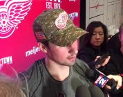 Red Wings' Dylan Larkin on big win and Thomas Vanek's huge speech