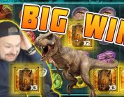 BIG WIN Raging Rex — New slot from Play'n GO — Huge win on Casino Game
