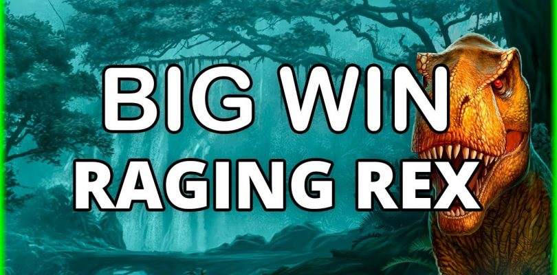 BIG WIN ON RAGING REX — WILD HUNT FREE SPINS — PLAY'N GO