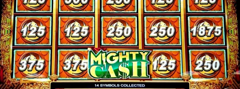 High Limit MIGHTY CASH Slot Machine $12.50 Max Bet Bonus & BIG WIN |SCARAB Slot Machine Max Bet Play