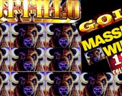 HUGE!!! Buffalo Gold Slot Machine Bonus MASSIVE WIN | 13 Gold Heads HUGE WIN On Buffalo Gold