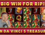 Da Vincis treasure BIG WIN — HUGE WIN on Casino Game from CasinoDaddy Live Stream
