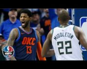 Paul George, Russell Westbrook fuel Thunder to big win against Bucks | NBA Highlights