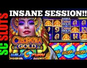 INSANE!!! EPIC Bonus on CLEOPATRA GOLD & WILD FURY Slot Machines — Casino Slot Big Win (San Manuel)