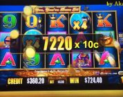 Akafuji Slot BIG WIN HIGH BET $7.50 LIVE★Whales  Of  Cash  Deluxe  Slot (Free Play $1,450.00), Cosmo
