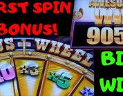 FIRST SPIN Big Win❗GOLD WEDGE ⭐Buffalo Grand⭐ (Retriggers)