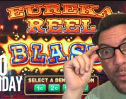 $100 Monday • BIG WIN on Lock It Link • Eureka Reel Blast • Harrah's New Orleans • James Arey Slots