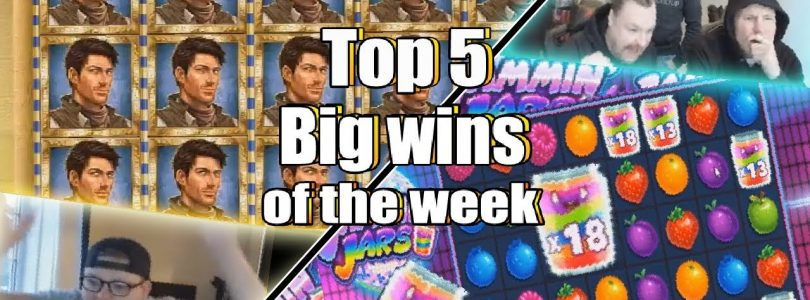 TOP 5 Big wins for the  week! mega big win in book of dead x5000+