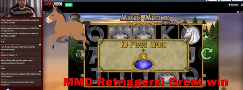 Magic Mirror Deluxe 2 retriggers! twice! Big win