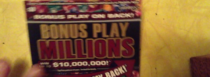 Big Win $30 CA Lottery Bonus Play Millions ticket. Watch me scratch it! Manual win all (almost)
