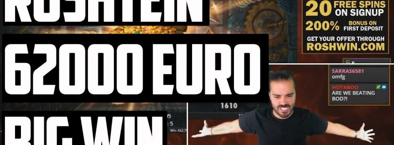 ROSHTEIN 62000 EURO INSANE BIG WIN LOST RELICS CASINO ONLINE SLOTS