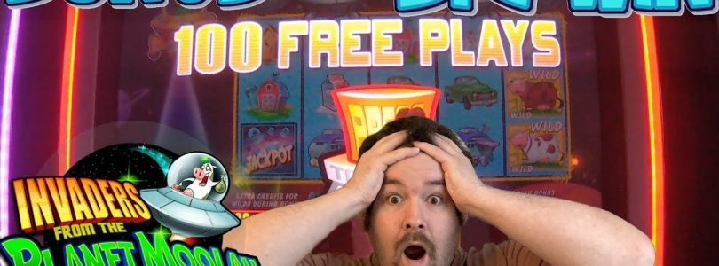Invaders Return from the Planet Moolah — 100 FREE SPINS BONUS BIG WIN MAX BET