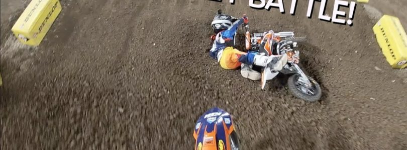 HUCKSON DEEGAN BIG SUPERCROSS WIN!!! A2 GoPro raw
