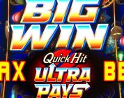 QUICK HIT ULTRA PAYS ★ BIG WIN  SLOT MACHINE BONUS ➜ LIVE CASINO PLAY