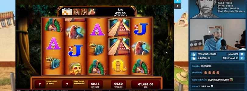 BIG WIN! Montezuma Slot from Casino Livestream!