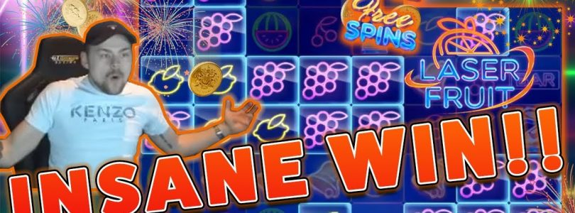 MASSIVE WIN!! Laser Fruit BIG WIN — HUGE WIN on Online Casino from Casinodady
