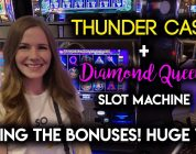 HUGE WIN! Diamond Queen! Slot Machine! BONUSES!!