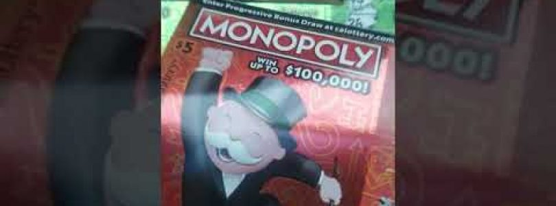 I WON!!! Big WIN Monday Morning Madness on Monopoly California lottery Scratcher