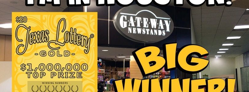 **BIG WIN** in Houston! $20 Texas Lottery Gold ✦ TEXAS LOTTERY SCRATCH OFF TICKET