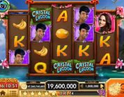 "CRYSTAL LAGOON Video Slot Casino Game with a ""BIG WIN"" RETRIGGERED FREE SPIN BONUS"