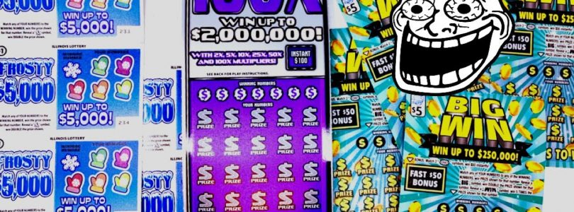 100X, BIG WIN & FROSTY $5000 Illinois Lottery Scratch Tickets