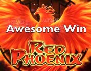 RED PHOENIX — 3x Bonus — Live Play With Very Big Win — Bally Slot Machine Pokie 레드 피닉스 슬롯 머신