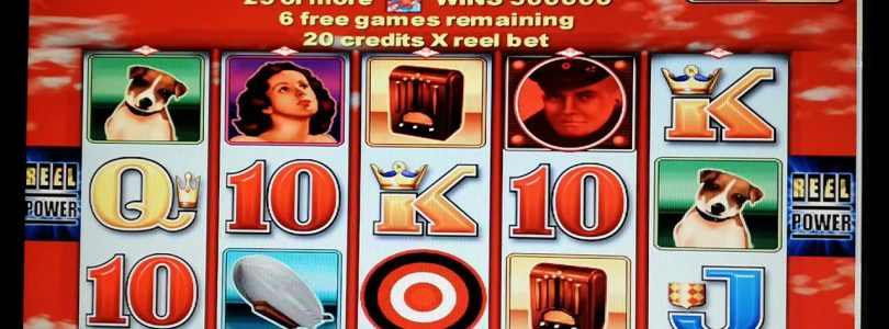 Aristocrat Slot Red Baron — Big win and free spins bonus.