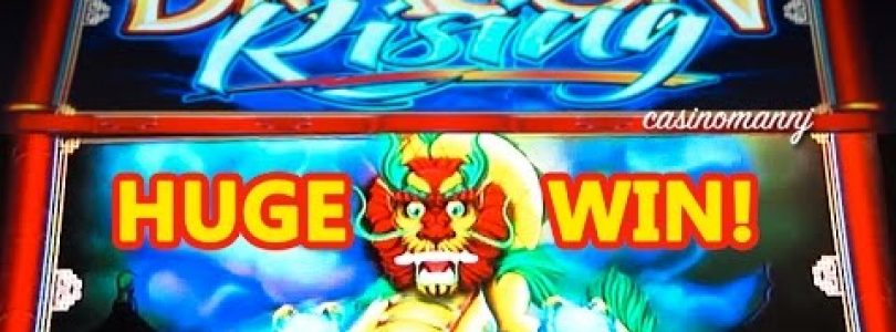 HUGE WIN!!! — DRAGON RISING Slot — MAX BET!!!! — Slot Machine Bonus