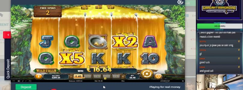 SLOT ONLINE BIG WIN X123 ON WILD FALLS FIRST SPIN FREESPINS