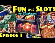 FUN with SLOTS by Blueheart EPISODE 1   BONUS/BIG WINS