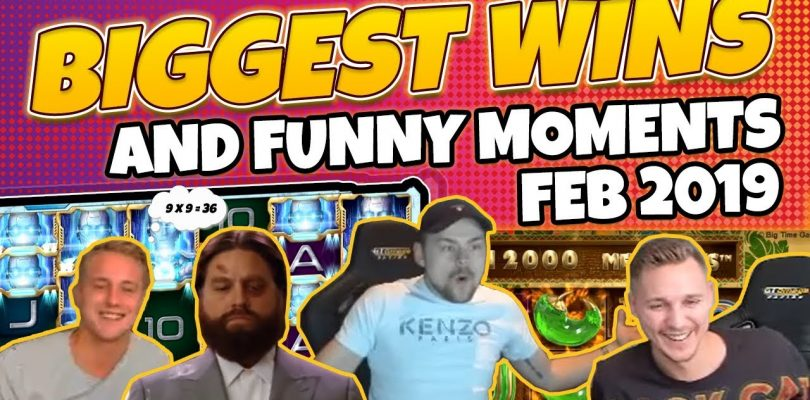 Biggest wins and Funny moments of casinodaddy February 2019 (Casino Twitch & Youtube)