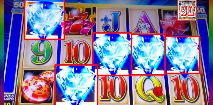** RARE 5 SYMBOLS TRIGGER ON SPARKLING 7S ** SUPER BIG WIN ** SLOT LOVER **