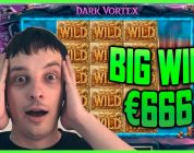 BIG WIN €666 ON DARK VORTEX SLOT