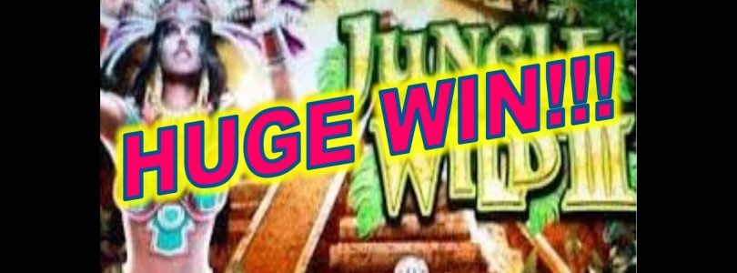 HUGE MEGA BIG WIN!!! WMS Jungle Wild 3 Slot Machine Bonus (3) and Line Hit