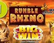 Rumble Rhino slot from Pariplay BIG WIN #1
