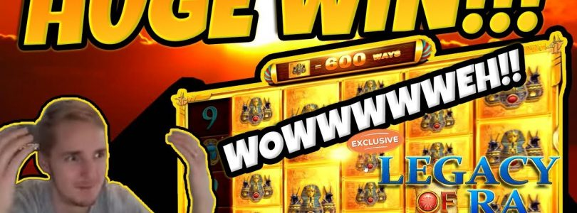 MASSIVE WIN! Legacy of Ra Megaways BIG WIN — Epic Win on Casino games EXCLUSIVE on Party