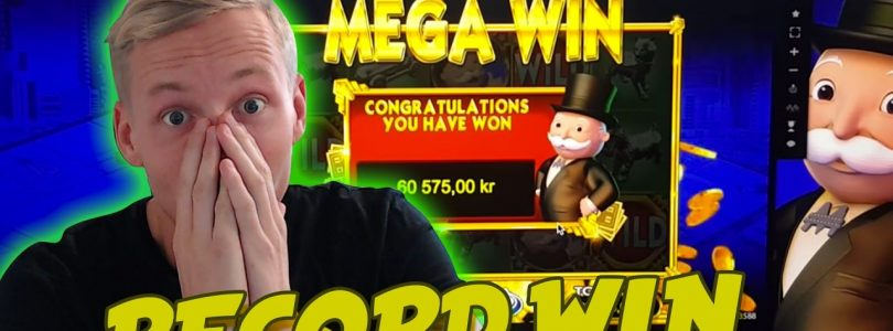 RECORD WIN Monopoly BIG EVENT BIG WIN 30euro spin HUGE WIN CASINO