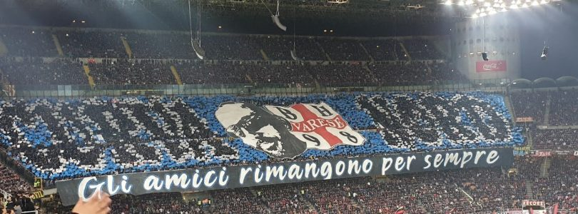 Inter Fans Celebrate with the players The big win In Milano Derby