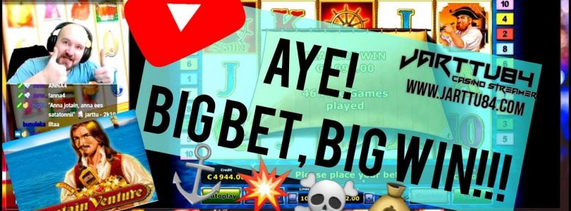 Big Bet!! Captain Venture Slot Gives Big Win!!