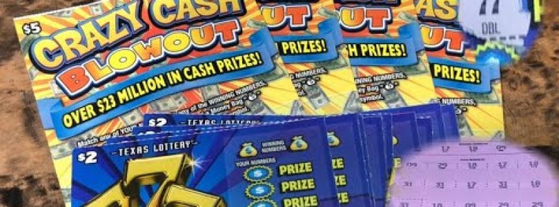 "New Tickets!! Big Win Manuel Win All!! $2 777 & $5 Crazy Cash Blowout!! ""Texas Lottery Tickets """""