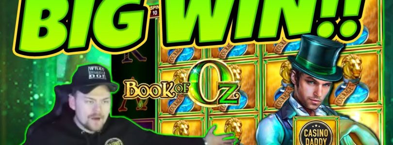 Huge Win! Book Of Oz BIG WIN — Epic Win on Online slots from CasinoDaddy LIVE Stream