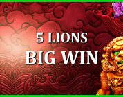 BIG WIN ON 5 LIONS! MY FIRST EVER PRAGMATIC PLAY VIDEO!
