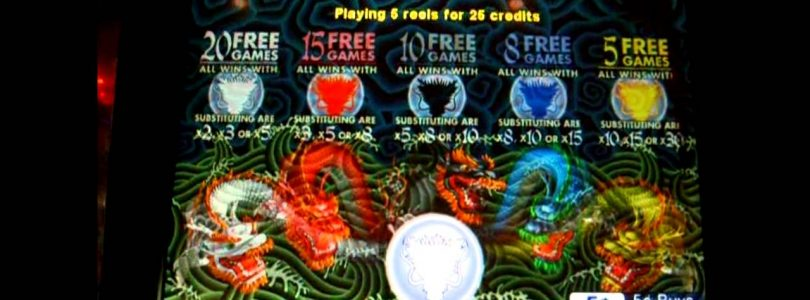 5 Dragons Bonus + RETRIGGER BIG WIN!!! — 5c Aristocrat Video Slots
