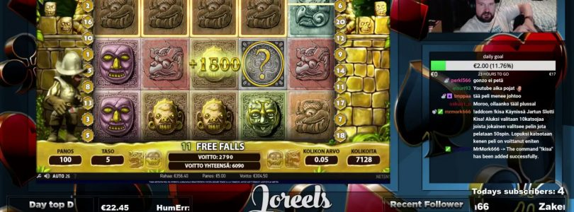 Gonzo's Quest FreeSpins Gives Super Big Win!!