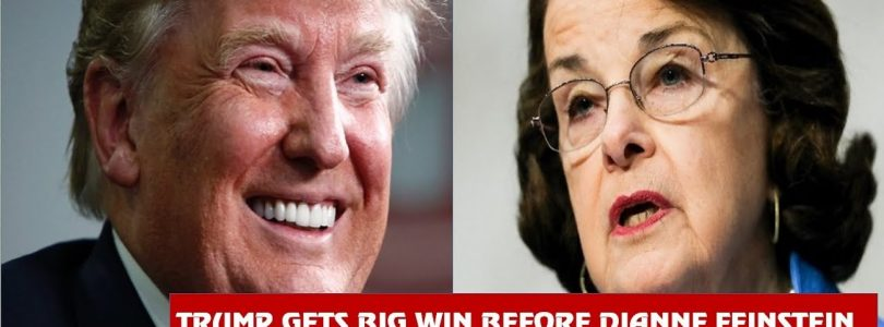 Trump Gets BIG WIN before Dianne Feinstein, THREAT to CLOSE Southern BORDER